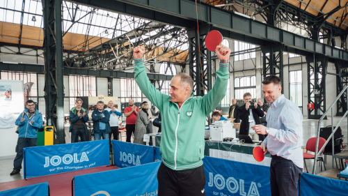 Petr Korbel won the first edition of World Minipingpong Festival in Ostrava